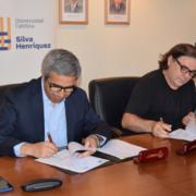 Firma de convenio UCSH y APECH