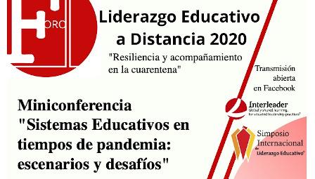 Afiche Liderazgo Educativo a Distancia 2020