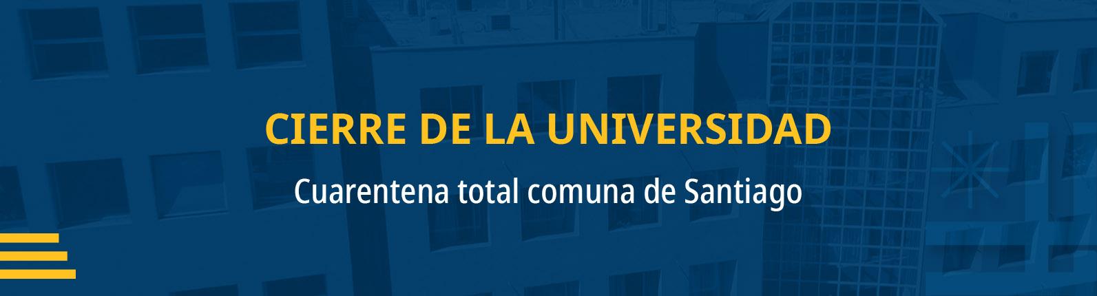 CIERRE DE LA UNIVERSIDAD