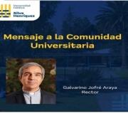 Rector UCSH, Galvarino Jofré